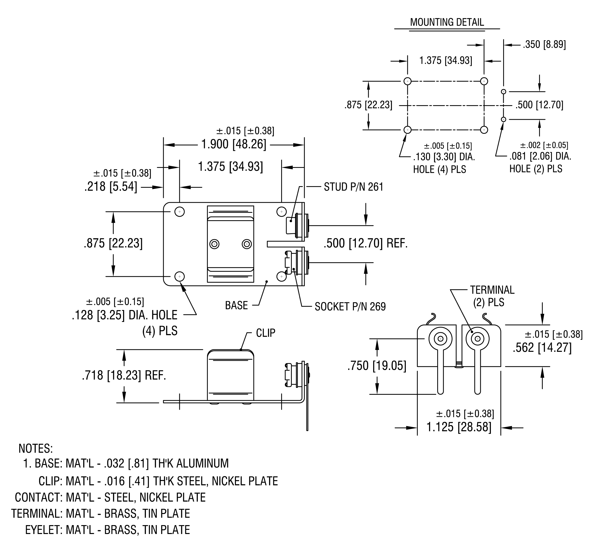 metal-9v-battery-clip-horizontal-holder-connector-with-pcb-pins-dimensions