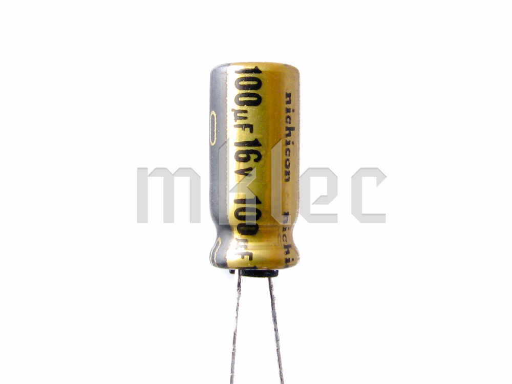100uf 16v audio grade electrolytic capacitor nichicon. Black Bedroom Furniture Sets. Home Design Ideas