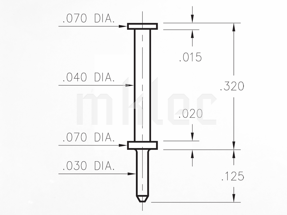 tall test probe post pcb pin dimensions