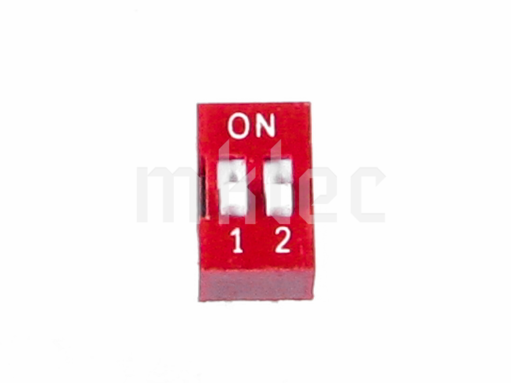 DIP Switch 2 Positions - 4 Pins